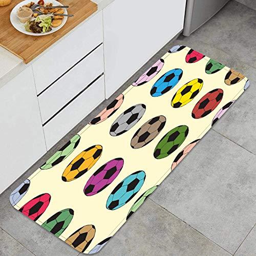 Cocina Antideslizante Alfombras de pie Bocetos de Color de...