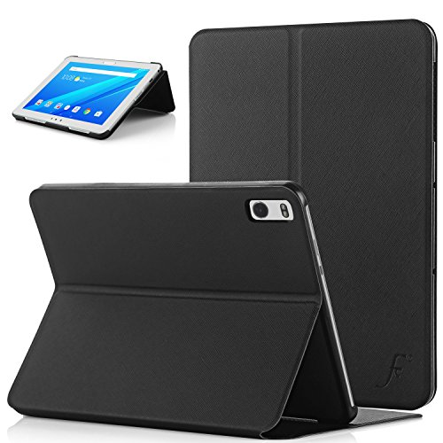 Forefront Cases Cover for Lenovo Tab 4 10 PLUS 10.1 inches Clam Shell Smart Case Cover Stand - Slim Light, Full Device Protection & Smart Auto Sleep Wake - Black