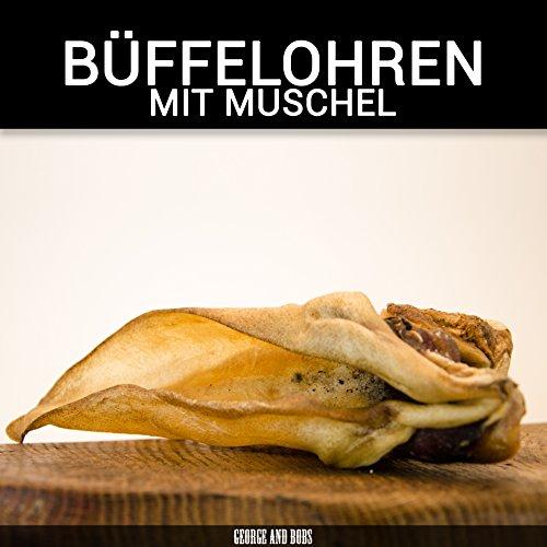 Büffelohren mit Muschel - 60g - 50Stk. - von George and Bobs - wie Rinderohren