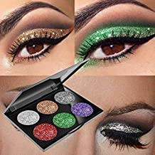 Glitter Eyeshadow Powder Waterproof, MojiDecor Beauty Makeup Cosmetic Eye Shadow Diamond Shiny Shimmer, Silky Smooth & Long Lasting