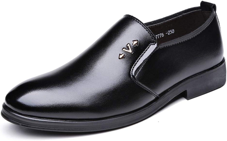 Easy Go Shopping Herren Oxford Schuhe Formelle Schuhe Schuhe Slip on Style Mikrofaserleder Bequeme runde Zehe Metaldecor,Grille Schuhe  nur für dich