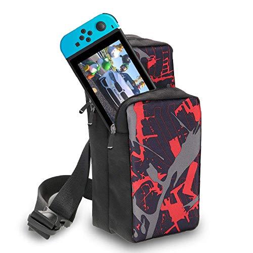 Reisetasche für Nintendo Switch/Switch Lite Tragbare Brusttasche / Rucksack, Leichte, Bequeme, Mhängetasche, Schutzhüllen Mit Hoher Kapazität für Nintendo Switch, Zubehör, Game Lover's Choice