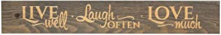 Dicksons Live Well Laugh Often Love Much 36 x 6 Wood Plank Style Wall Sign Plaque