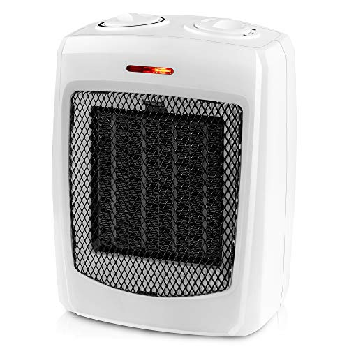 andily Space Heater Electric Heater for Home and Office Ceramic Small Heater with Thermostat, 750W/1500W …