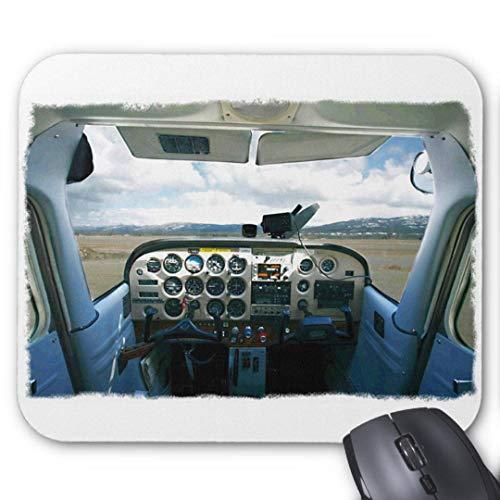 Mauspad mit seidenweicher Textiloberfl?che - Mouse Pad Paradise (antistatische Wirkung - perfekte Gleiteigenschaft PC / Computer Mousepad)-Flugzeug Cockpit