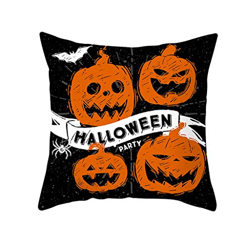 Honestyi Halloween Ghost Witch Pumpkin Dekokissen Fall magische Katze Kissenbezug DekorBSJ002 Halloween Kissenbezug