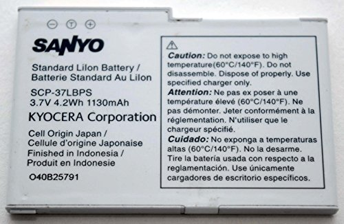 Sanyo Kyocera SCP-37LBPS Cell Phone Battery OEM 1130mAh Zio 8600 M6000 36LBS