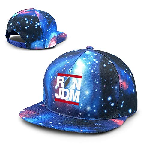 Hongyanw Unisex Run JDM Japanische Auto Galaxy Baumwolle Hip-Hop Snapback flache Krempe Erwachsene Papa Baseball Caps Blau