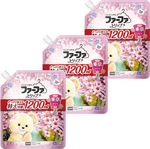 ファーファ トリップ 柔軟剤 東京 さくら の香り 詰替 (1200ml) 3個セット