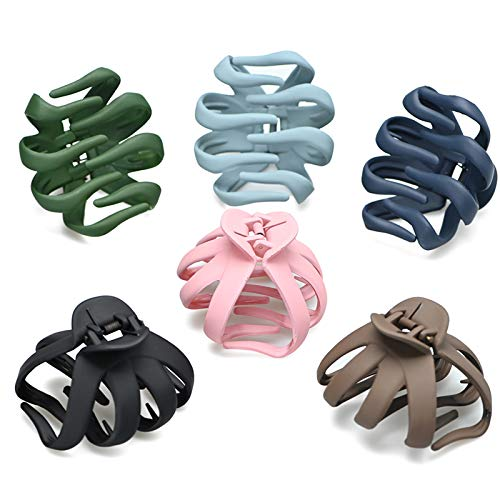 Large Claw Clips Big Claw Hair Clips for Women Non Slip Grip Octopus Clip Banana Clips Claw Hair Clip Jaw Clips for Thick Thin Hair Strong Hold Catch Barrette Ponytail Holder Accessories