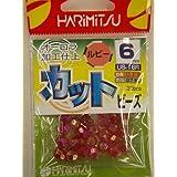HARIMITSU(ハリミツ) カット ビーズ ルビー 6mm US-16R