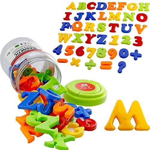 SKAJOWID Magnetische Buchstaben Und Zahlen Mathematische Symbole, Alphabet Shift Minuscule Alphabetische Magnete Für Kühlschrank Lernspielzeug Für Vorschulkinder, Geeignet Für Kinder (78 STK)