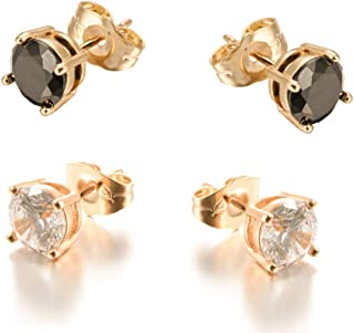 Yumay 6MM AAAA Freshwater Cultured Pearl Stud Earrings for Women