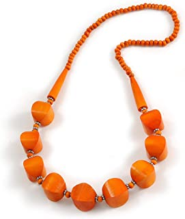 chunky orange bead necklace