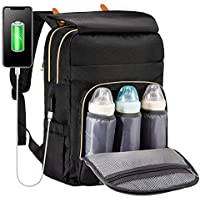 Multifunction Diaper Bag Backpack with USB Charging Port