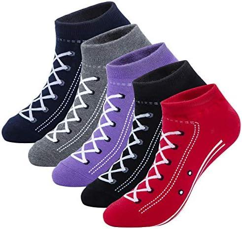 Fun Novelty Low Cut Socks Cool Sneakers Ankle Socks Gift Idea Size 6-10 86/% KONY Women/'s 5 Pack Lightweight Cotton