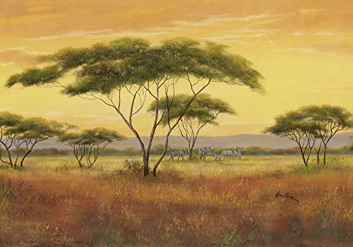Artland Poster Kunstdruck Posterdruck Posterbilder 100x70 cm Landschaften Afrika Malerei Ocker Afrikalandschaft A0ZN