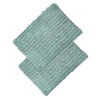 Elegant Bath Set of 2 Microfiber Bath Mat, Non slip Backing, Ultra Soft, Extremely absorbent and Fast Drying. Durable, Easy Cleaning, Machine Washable. 5 different colors