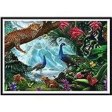 Xevkkf 5D DIY Pintura Diamante_Guepardo del Bosque 30X40Cm_Pintura Diamante Arte Bricolaje Punto Cruz Imitación Bordado Pegatinas De Pared Decoración De Sala