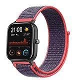 NiceMonday, cinturino di ricambio colorato per orologio Amazfit GTS da 20 mm, in tela di nylon,...