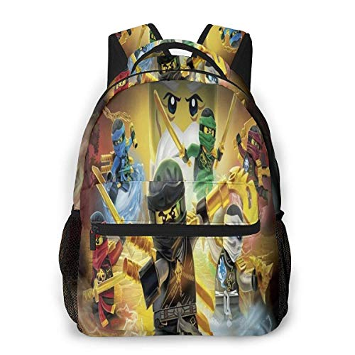 Yuantaicuifeng Ninj-ago Unisex Stylish Backpack for Boys Girls Travel Backpack Backpack for Students