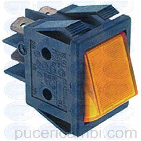 Puce INTERRUTTORE BIPOLARE ARANCIO 16A 250V 3319035