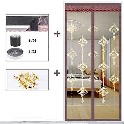 LXMJ Magnetische gordijnen voor de zomer, bescherming tegen vliegen en muggen, sluit automatisch het deurgordijn, eenvoudig te installeren
