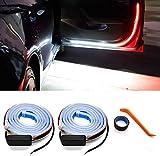 HConce Car Door LED Strip Lights,2PCS 1.2Meter 144 LEDs Interior Car Door Lights,Used for Lighting, Decoration, and Warning Anti Rear-end Collision