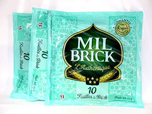 Brick-Teig, rund, ca. ø 27cm, hauchdünn, 3x170g. 30 Blatt