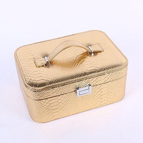 LITAO Cosmetics Set_Korean Stone Pattern Großraum-Kosmetikset Box Professional Cosmetics Storage...