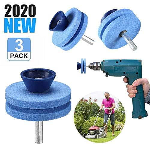 Gspose Rasenmäher Messerschärfer,Mehrzweck-Schleifaufsatz für Bohrmaschinen zum Schärfen Rasenmähermessern,Äxten und Anderen Gartenwerkzeugen
