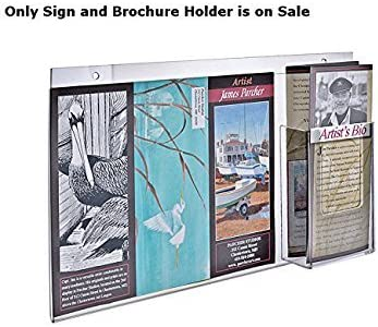 Acrylic Horizontal Wall Attention brand Mount Sign and W 8. x 16 Rare Brochure Holder