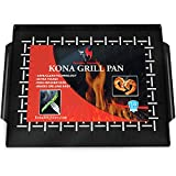 Kona Best Grill Tray - Heavy Duty BBQ Grilling Pan Will Never Warp & Porcelain Enameled for Easier...