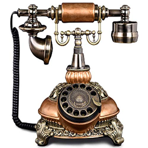VERDELZ TeléFono CláSico Antiguo, Dial Giratorio, TeléFono con Cable Retro, HabitacióN De Hotel, TeléFono Fijo