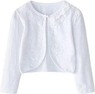 9581ac77a0c CHENXIN Girl Shrugs Knit Long Short Sleeve Lace Bolero Cardigan Shrug