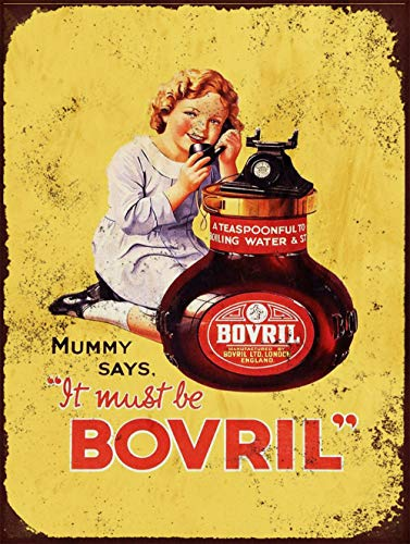 Mummy Says Bovril Girl inspired Vintage Retro Man Cave Bar Pub Shed Novelty Gift Aluminium Metal Tin Wall Décor Sign