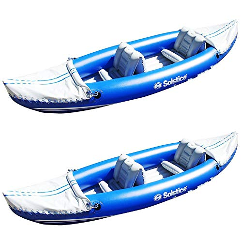Solstice Whitewater Rapids Rogue 2-Person Convertible Inflatable Kayak (2 Pack)