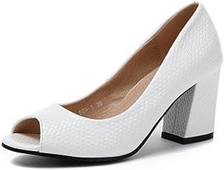 11e735086408 GIY Women s Sexy Cut Out Ankle Strap Platform Sandals Peep Toe Anti-Slip  Chunky Heel