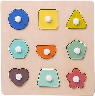 YHomU Toddler Baby Infant Jigsaw Boys Girls Kids Children Puzzle Matching Game Educational Interactive Fun Intellectual Fu...