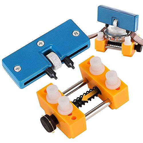 Uhrmacherwerkzeug Set, Uhrenreparaturset Uhr Batteriewechsel Werkzeug mit Uhrenöffner Gehäuseöffner Uhrenhalter, Uhren Rückseite Öffner Uhrenwerkzeug Set für Uhrmacher