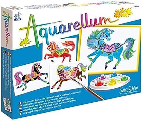 Venta en línea de descuento de fábrica Sentosphere 3900691 Aquarellum Junior Horses Paint Paint Paint Set with 4 Fill-In Pictures by Sentosphere  minorista de fitness
