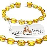 Bracelet ou bracelet de cheville en ambre de la Baltique - Véritable perles d'ambre de la Baltique - Soulagement de la douleur naturelle, 4.9 IN / 12.5 CM