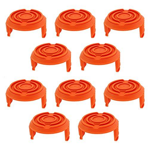 AISEN 10x Spool Cap Deckel Deckung 50006531 für WORX WA6531 GT WG150 WG151 WG152 WG153 WG154 WG155 WG155.5 WG156 WG157 WG160 WG163 WG165 WG166 WG170 WG175 WG180 kabellose Grasschneider