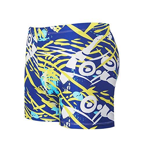 SAILORMJY Heren Shorts Zwemmen Trunks Wim, Board Shorts Mannen, Zwemmen Trunks Platte Hoek afdrukken Grote Maat Hot Spring Beach Broek Mode Heren Zwemkleding XXXL C
