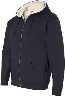 Mens Sherpa Lined Full-Zip Hooded Sweatshirt (EXP40SHZ)
