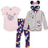 WarnerBros. Minnie Mouse Girls' Hoodie Legging Activewear Pajama Outfit 3PC Set, Size 6