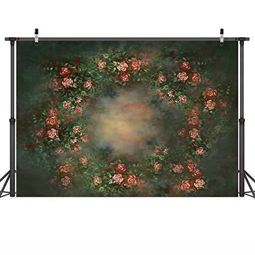 Fondo de fotografía de Retrato de bebé recién Nacido Floral Textura Abstracta Fondo de cumpleaños de Flores Estudio fotográfico A13 10x10ft / 3x3m