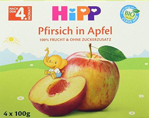 HiPP Pfirsich in Apfel, 6er Pack (6 x 400 g)