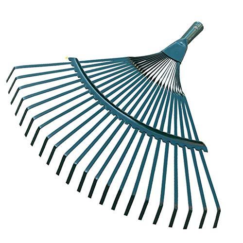 Sayiant Balai à fil métallique - Grand râteau à herbe - Pour enlever la saleté et les feuilles tombées - Outil de jardin - Tête plate à 22 dents