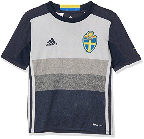 adidas Kinder Schweden Auswärtstrikot Replica Trikot, Collegiate Navy/LGH Solid Grey, 164